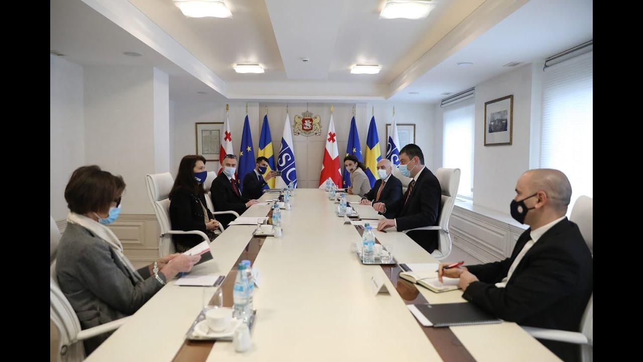 გიორგი-გახარია-ეუთოს-მოქმედ-თავმჯდომარეს-შვედეთის-სამეფოს-საგარეო-საქმეთა-მინისტრ-ენ-ლინდეს-შეხვდა