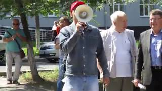 Рупор справедливости на митинге 18 августа в Новокуйбышевске