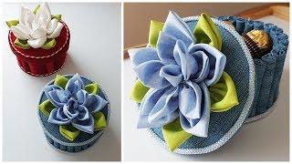 How To Make Easy Handmade Fabric Basket | Корзиночка из бросового материала. Поделки своими руками