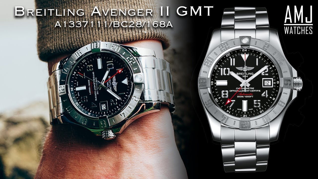 huge selection of 3455a fd421 Breitling Avenger II GMT (A3239011/BC34/170A) Unboxing & Showcase