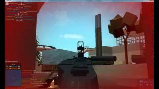 ROBLOX:p Hantom Forces beta playing with the Ranbo machine gun