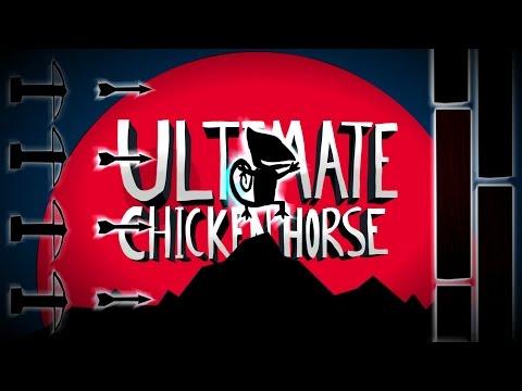 SUPER CAMALEÃO ENFRENTA A GRANDE MURALHA   Ultimate Chicken Horse ( Momentos Engraçados )