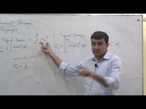 Energy/Power Spectrum, Correlation, Convolution, Communication Systems Lec 5/19