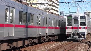 東武20050系21854F・10030系11444F西新井~竹ノ塚通過