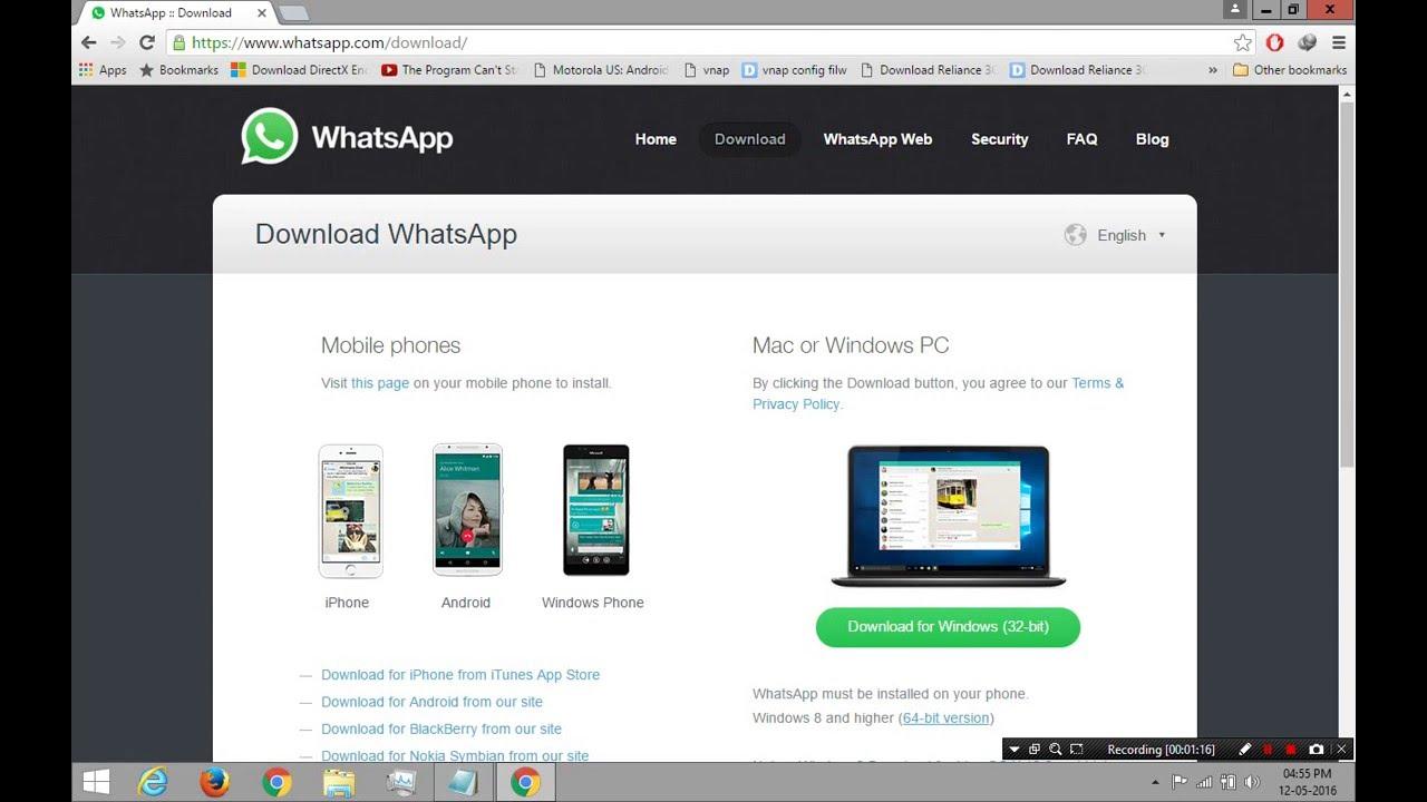 download whatsapp for pc windows 7 32 bit