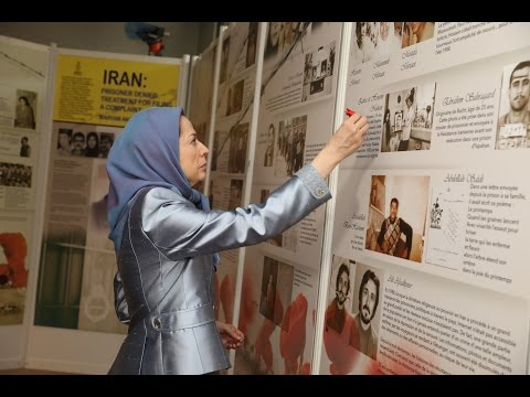 Maryam Rajavi visit an exhibition Paris– Nov 26, 2016