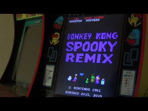 Arcade1up - Donkey Kong Spooky Remix - PB 120k - modded w/PlayStation classic & retroarch from j jones