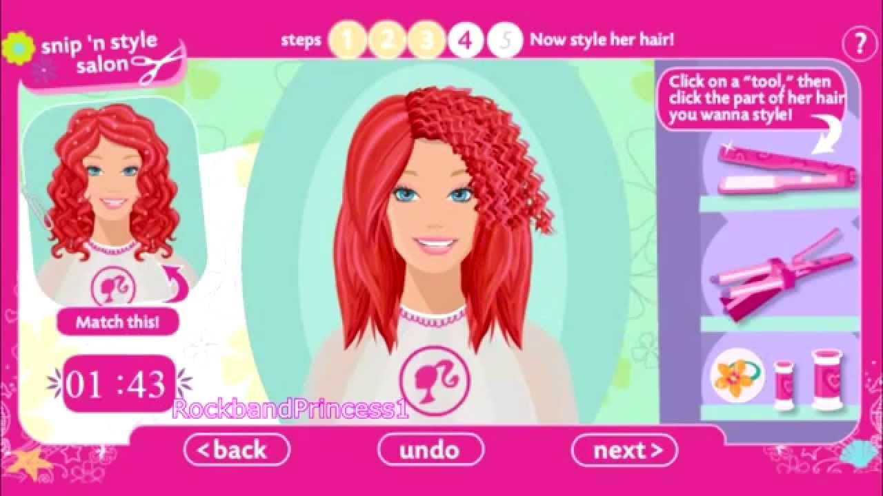 Gra Barbie U Fryzjera Youtube