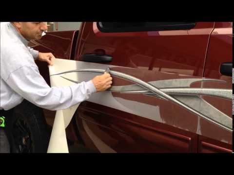 Step by Step Tribal Graphics Dry Installation on Chevy Silverado