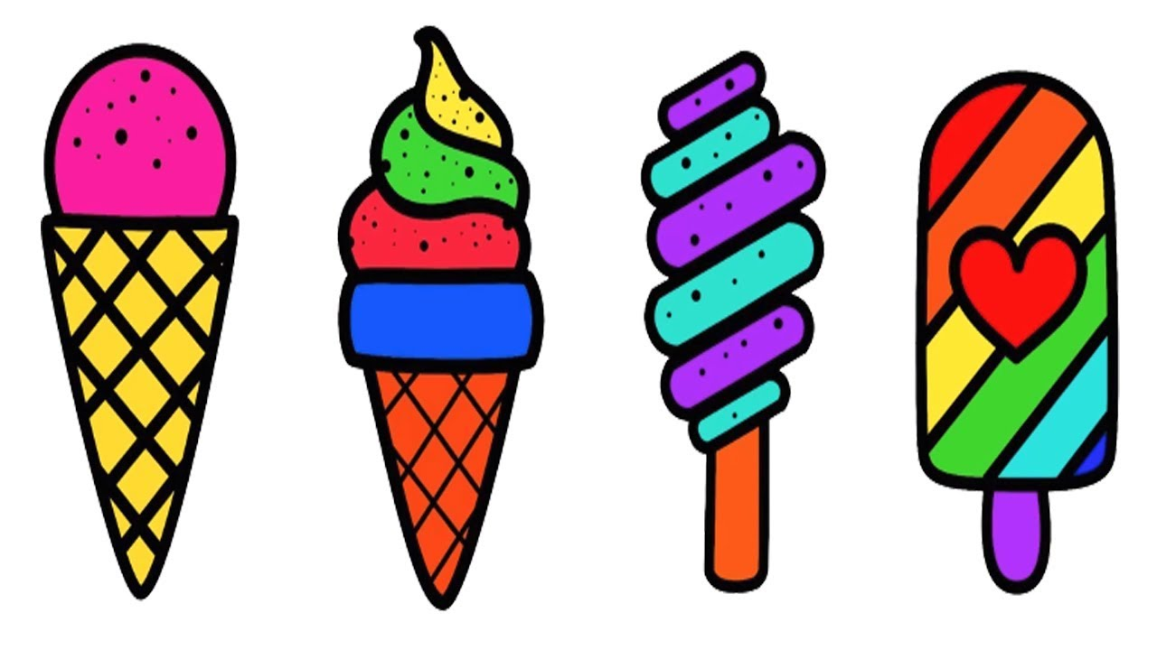 Coloring Pages Ice Cream Drawing Pictures How To Draw Ice Cream