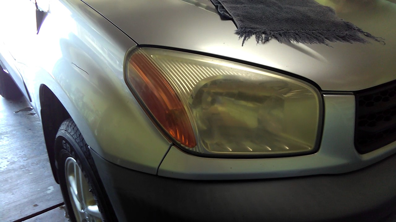 Headlight Restoration Detailing 01 Toyota Rav 4 Awd Youtube 2001 Rav4 Lights