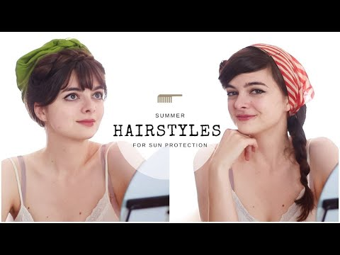 summery-vintage-hairstyles-for-sun-protection