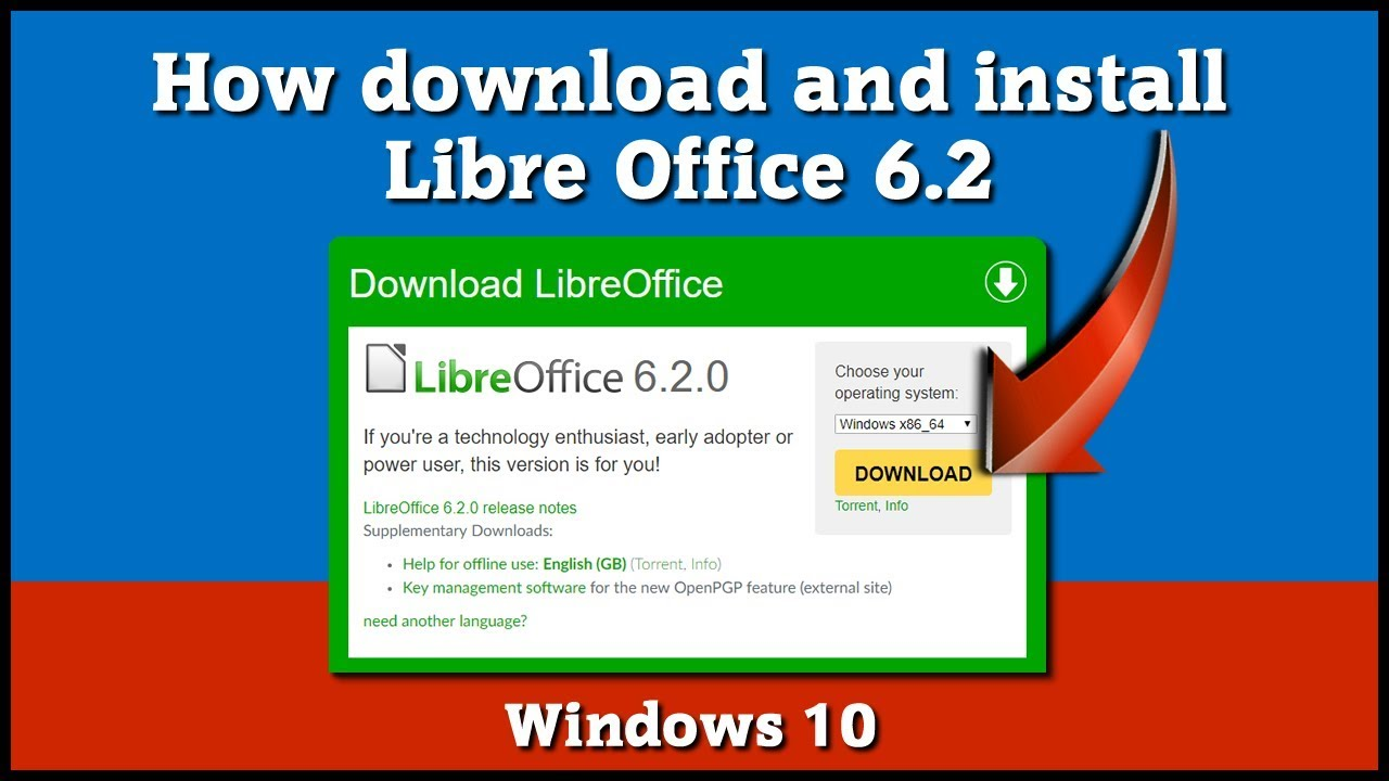 Libre Office 6 2 - How to download and install - [ Free Software ]