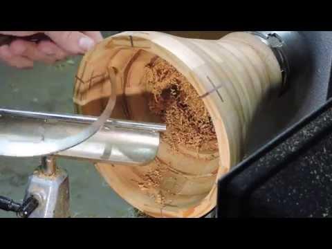 Wood Turning a segmented urn #18