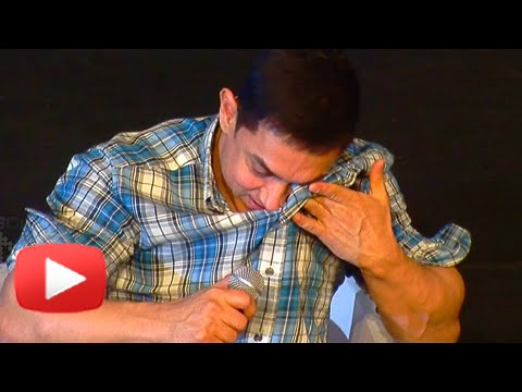 Shocking!! Aamir Khan Cries In Front Of Media