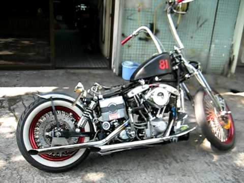 Shovelhead 81 Harley Davidson - YouTube