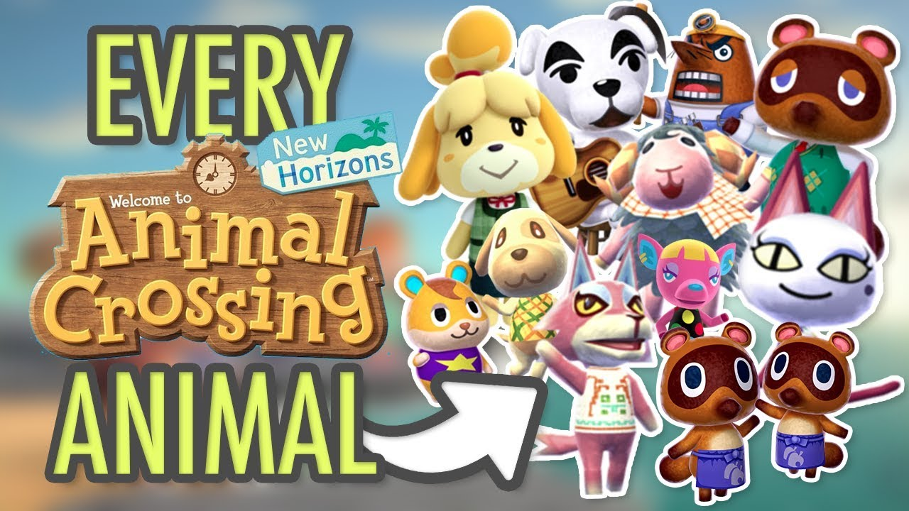 Animal Crossing New Horizons - ALL CHARACTERS - YouTube