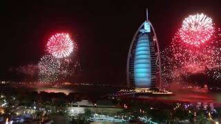 New Years Fireworks at Burj Al Arab