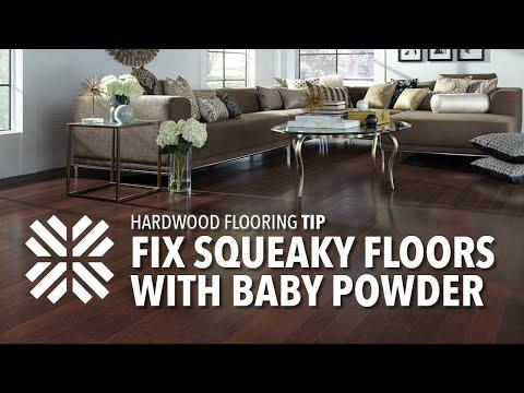 Flooring 101 Tip: Fix Squeaky Floors with Baby Powder | Lumber Liquidators