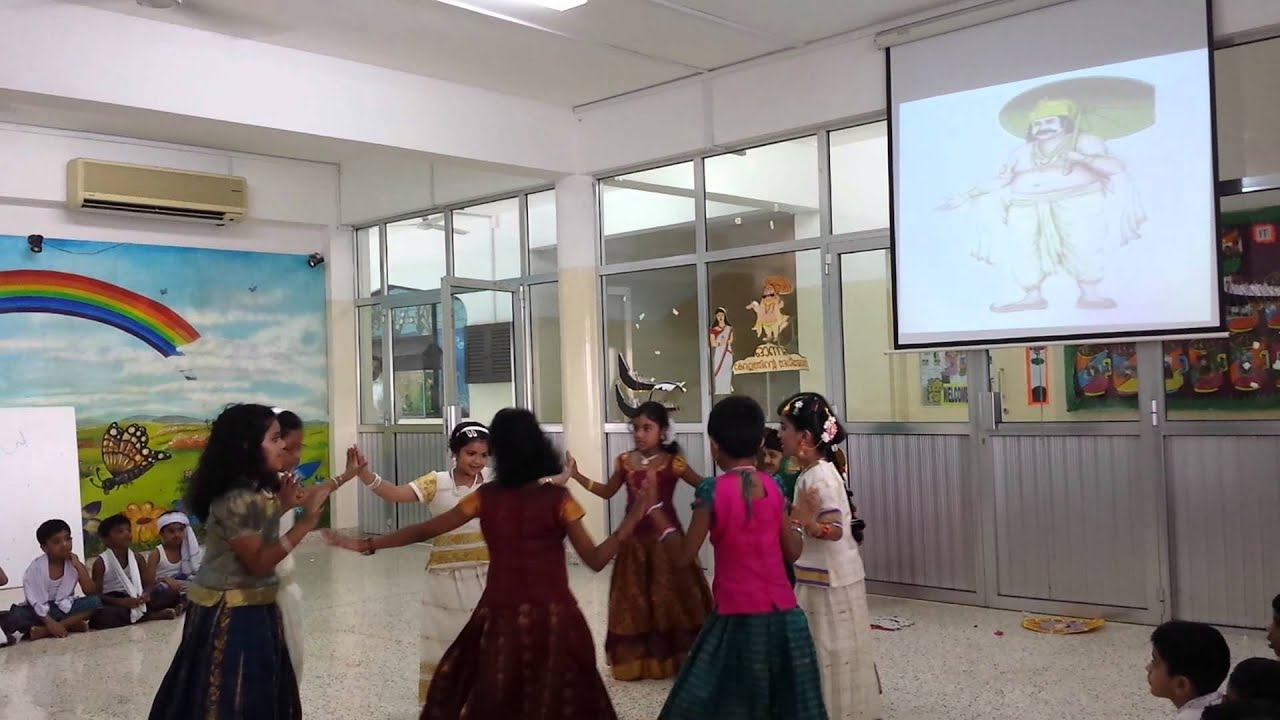 Onam celebration Indian School Al Ghubra - YouTube