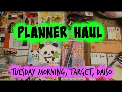 Planner haul - Tuesday Morning, Target and Daiso
