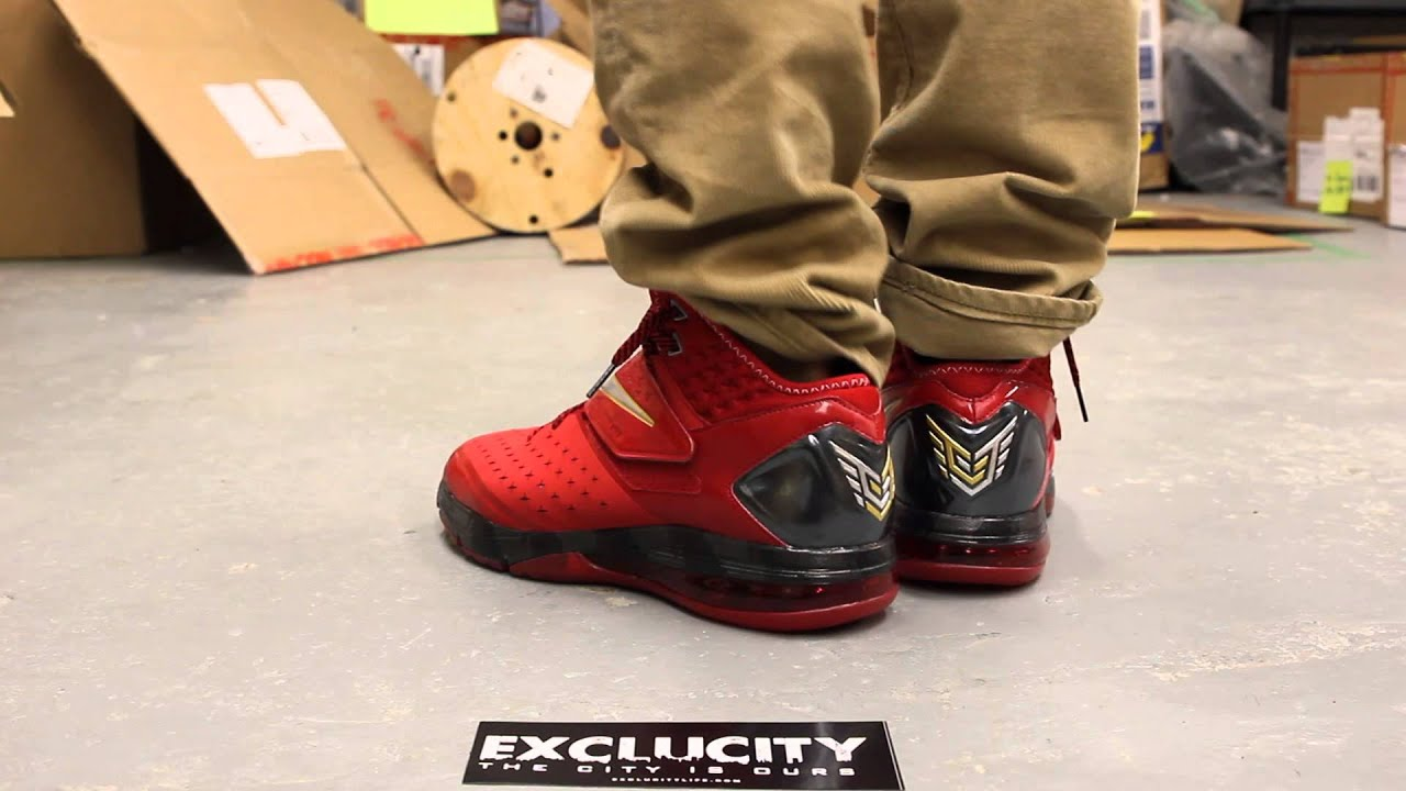 Nike CJ81 Trainer Max - Varsity Red - Metallic Silver On-feet Video at  Exclucity 09672df0e