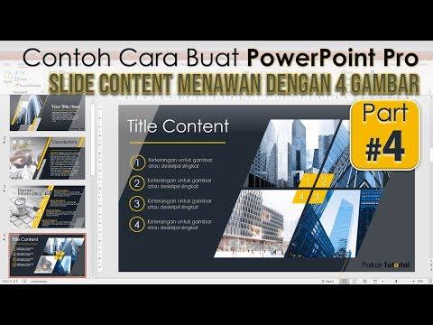Contoh Cara Membuat Power Point Pro | Desain Slide Menarik dengan 4 Gambar