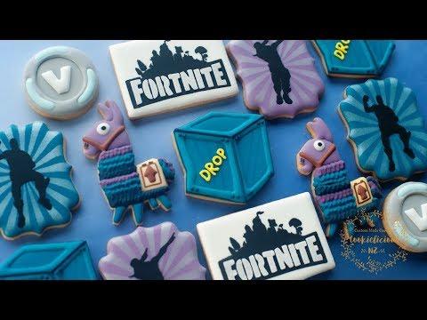 FORTNITE Cookies PART 2 ~ How to make Loot Llama, Supply Drop, V-Bucks & Fortnite Dance!