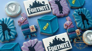 FORTNITE Cookies PART 2 ~ How to make Loot Llama, Supply Drop, V-Bucks & Fortnite Dance!
