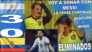 REACCIÓN ARGENTINA VS ECUADOR (3-0) / COPA AMÉRICA 2021 / ELIMINADOS / SHOW DE MESSI