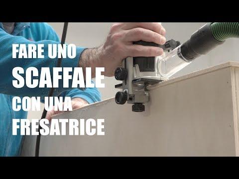 COME FARE UNO SCAFFALE SEMPLICE - Fresatrice + banco sega - Progetto fai da te e bricolage.