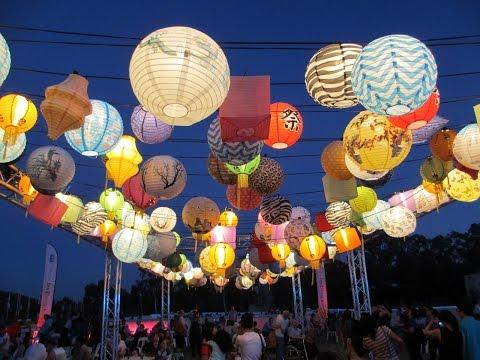 Enlighten Festival & Noodle Market 2015, Canberra City ACT, Australia, Travel Vlog
