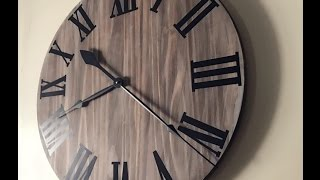 DIY home decor| rustic clock easy and affordable