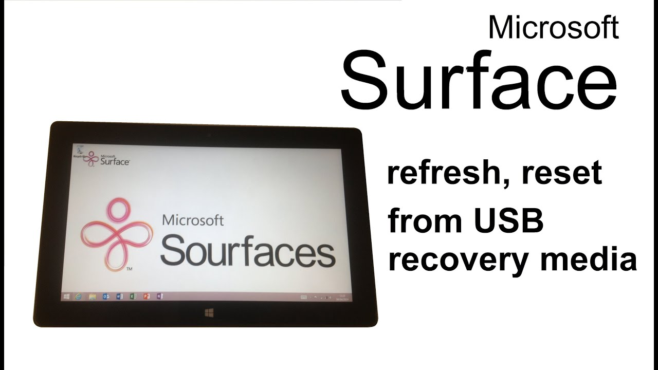 factory reset surface pro 3 without usb