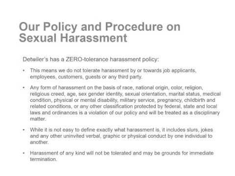PPT Sexual Harassment Training for Supervisors