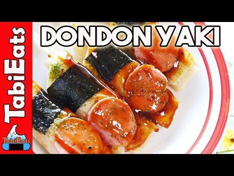 Okonomiyaki on a stick japanese street food recipe youtube tabieats dondonyaki okonomiyaki forumfinder Choice Image