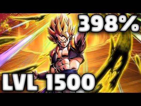 398% LVL 1500 SUPER GOGETA SHOWCASE | Dragon Ball Legends
