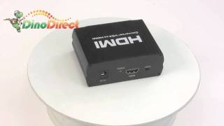 1080p with R/L Audio VGA to HDMI Converter Adapter  from Dinodirect.com