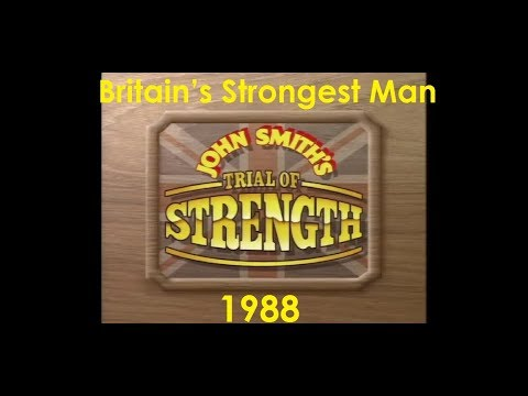 BRITAIN'S STRONGEST MAN 1988 John Smith's trial of strength.