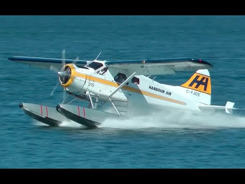 Harbour Air DHC-2 Beaver Seaplane Landing