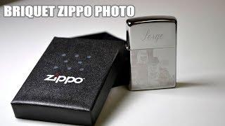 Briquet Zippo personnalisable avec photo et écriture gravée