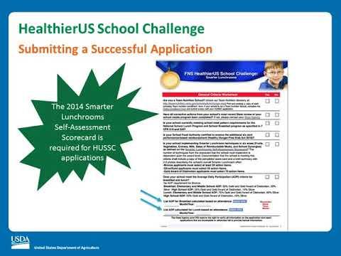 Completion of the HealthierUS School Challenge Award Program