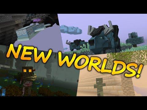 Minecraft Top 5 Dimension Mods (NEW WORLDS) - 2018