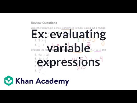 Examples of evaluating variable expressions | Introduction to algebra | Algebra I | Khan Academy