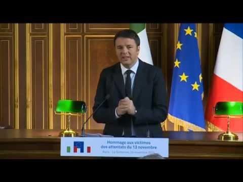 Intervento del presidente Renzi all'Università Paris-Sorbonne (26/11/2015)
