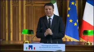 Intervento del presidente Renzi all