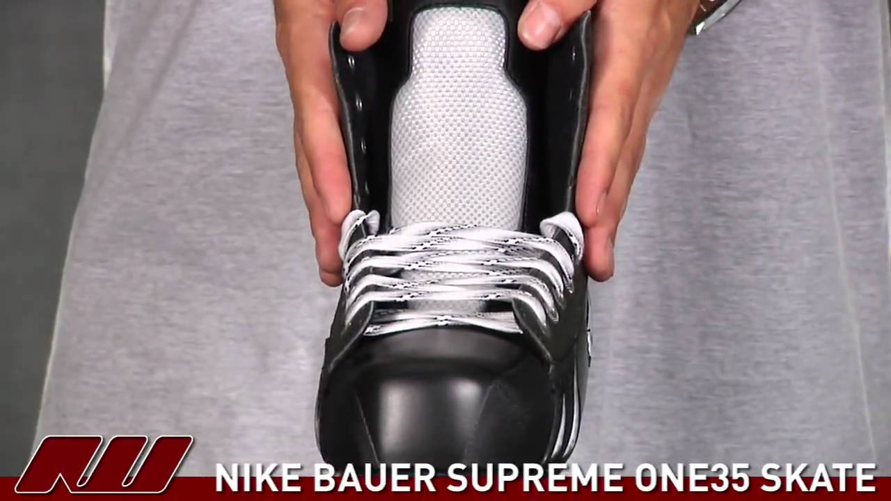 Nike Bauer Supreme One 35 Hockey Skate - YouTube