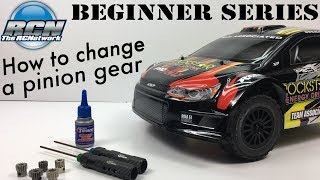 RC Beginner Series - How to Change Pinion Gear and Set Gear Mesh
