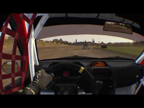 Trying dirt rally VR .. Rally Cross