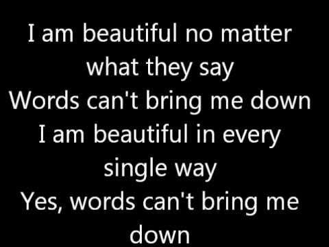 Beautiful christina aguilera lyrics